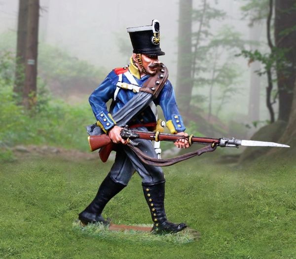The COLLECTORS SHOWCASE, CS00898, 54mm Prussian Line Inf. Advancing