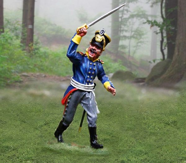 The COLLECTORS SHOWCASE, CS00894, 54mm Prussian Line Infantry Officer