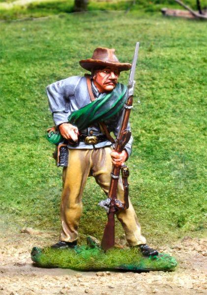 The COLLECTORS SHOWCASE, CS00826, 54mm Confederate Reloading