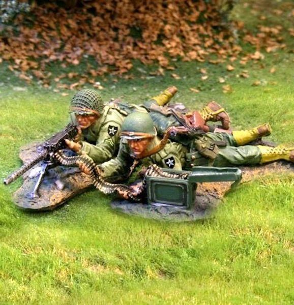 THE COLLECTORS SHOWCASE, CS00585, 1/30th, US Infantry 30 cal MG team