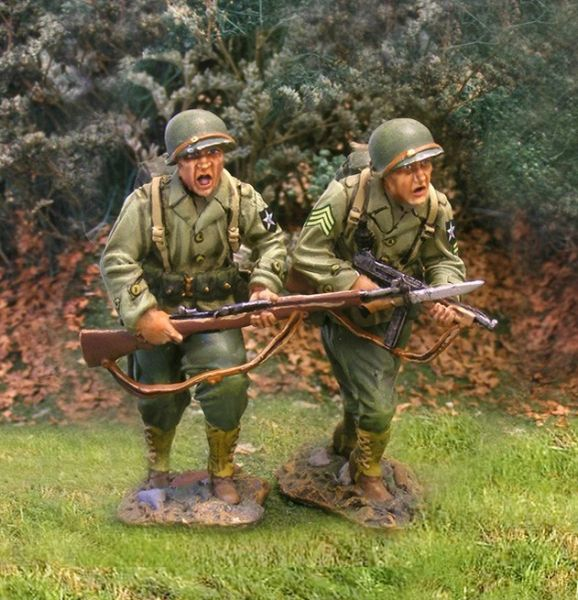 THE COLLECTORS SHOWCASE, CS00583, 1/30th, US Infantry Advancing