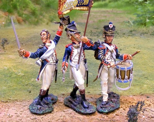 The COLLECTORS SHOWCASE, CS00662, 54mm, French Line Infantry Command Set