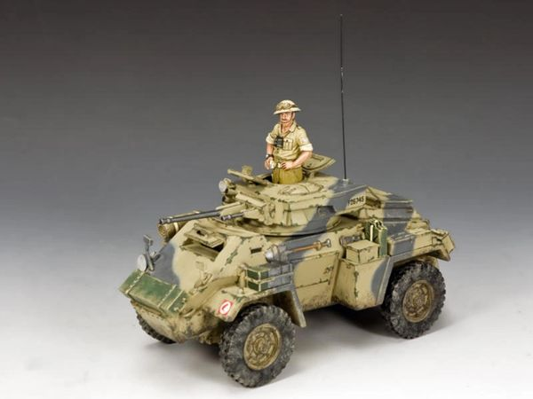 KING AND COUNTRY, EA117, 1/30, The Humber MK.II Armoured Car, WW2 British Eighth Army (BOXED)
