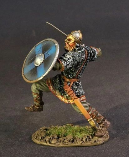 John Jenkins Designs, VIK-16B, Dark Ages, 1/30th, Viking Warrior Kicking (1 pcs)