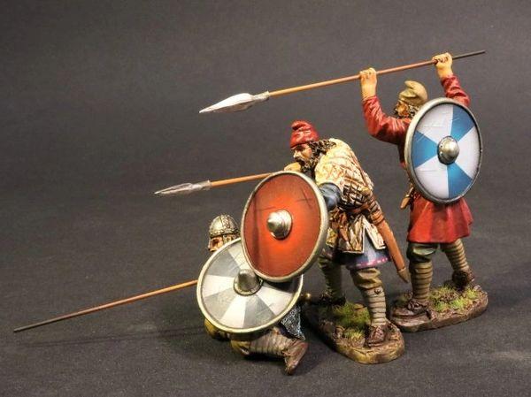 John Jenkins Designs, SX-171819A, Dark Ages, 1/30th, Anglo Saxon/Danes, Saxon Fyrdmen (4 pcs)