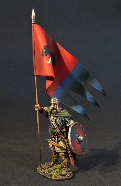 John Jenkins Designs, SX-09, Dark Ages, 1/30th, Saxon Standard Bearer (2 pcs)