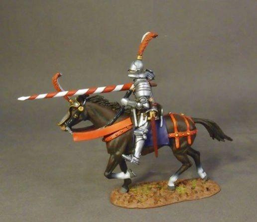 John Jenkins Designs, RYORK-05A, War of the Roses, 1/30th, Mounted Yorkist Knight (4 pcs)