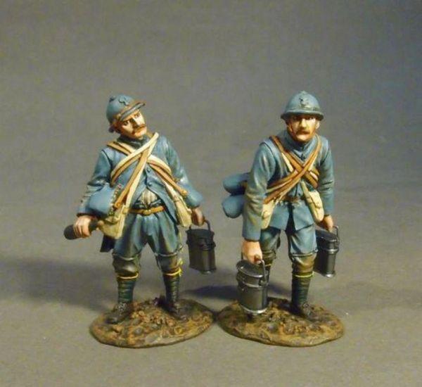 """John Jenkins Designs, GWF-42, WW1, 1/30th, French Infantry """"Soup Men"""" (2pcs)"""