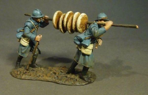 "John Jenkins Designs, GWF-43, WW1, 1/30th, French Infantry ""Soup Men"" carrying Bread (1 pcs)"