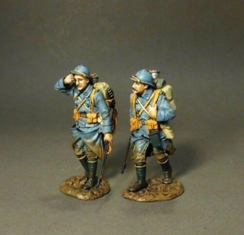 John Jenkins Designs, GWF-23, WW1, 1/30th, French Infantry walking (2 pcs)
