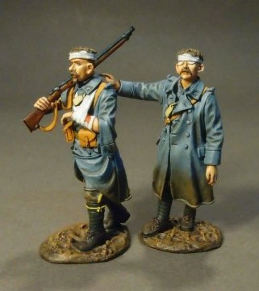 John Jenkins Designs, GWF-37, WW1, 1/30th, French Infantry walking wounded (2 pcs)