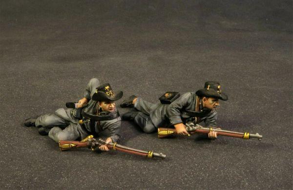 John Jenkins Designs, CSPR-10, ACW, 1/30th, Palemetto Riflemen prone (2 pcs)
