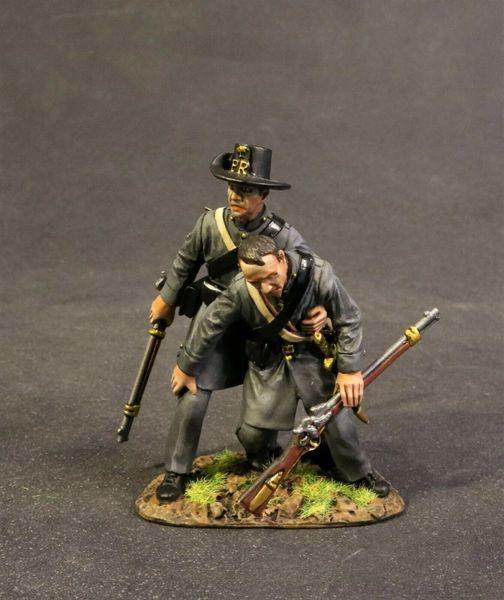 John Jenkins Designs, CSPR-14, ACW, 1/30th, Palemetto Riflemen wounded (2 pcs)