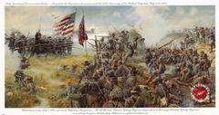 """Civil War Gettysburg Print, 6 x 11"""""""