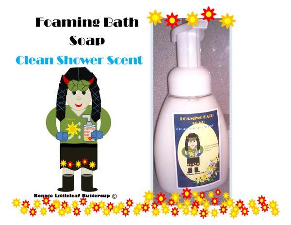 Bonnie Littleleaf Buttercup's Clean Shower Foaming Bath Soap