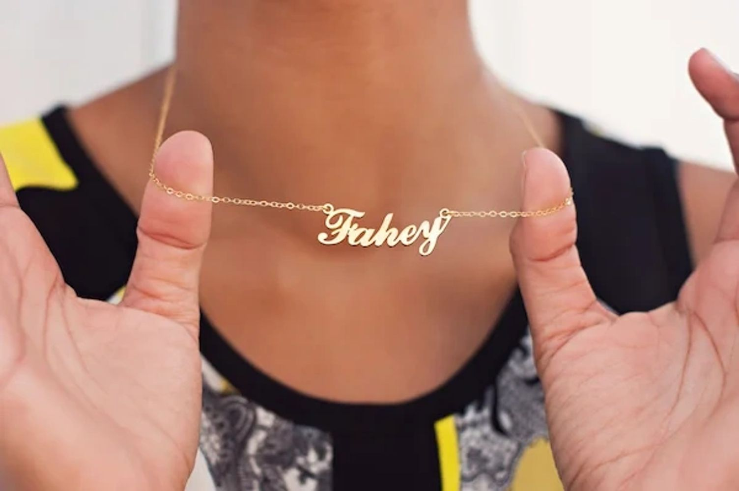 custom personalize name necklace jewelry