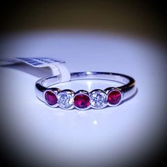 18WG Ruby and Diamond Eternity Ring