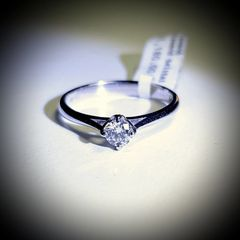 18WG Diamond Solitaire Ring