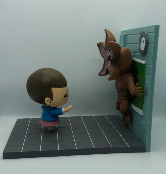 Eleven and Demogorgon from Stranger Things