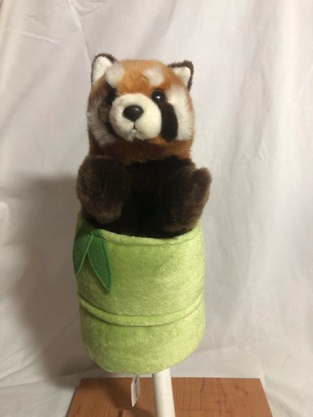 Red Panda in Bamboo Puppet