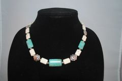 Howlite and Turquoise Necklace