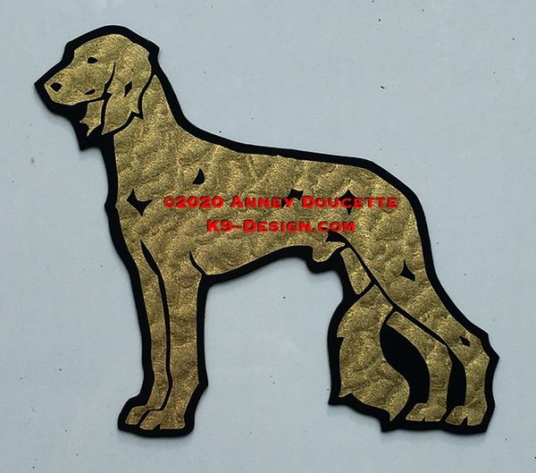 Saluki Standing Magnet - Choose Color