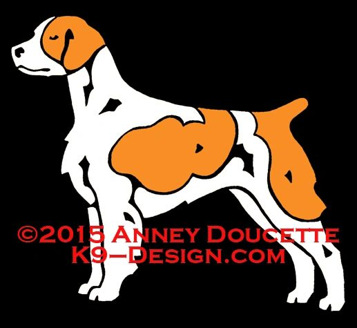 Brittany Standing Decal - Choose Orange or Liver