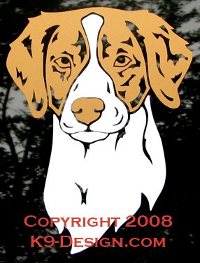 Brittany Headstudy Decal - Choose Orange or Liver