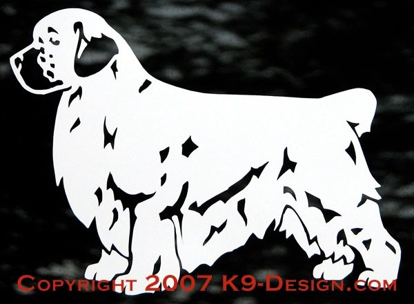 Clumber Spaniel Standing Decal - Choose Docked or Natural Tail
