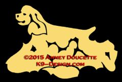 Cocker Spaniel Trotting Decal - Choose Color