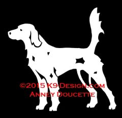"""English Setter """"Llewellin"""" Field Hunting Decal"""