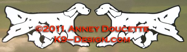English Setter Trotting Magnet - Choose Color