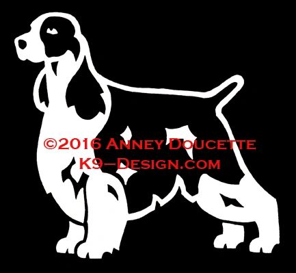 English Springer Spaniel Stacked Decal