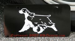 English Springer Spaniel Trotting Aluminum License Plate