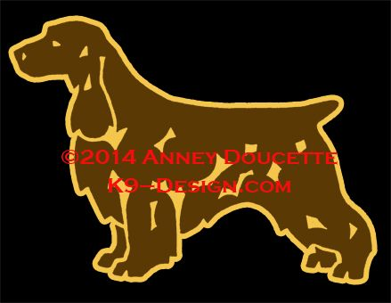 Field Spaniel Standing Magnet - Choose Black or Liver