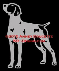 German Shorthaired Pointer Standing Front Decal