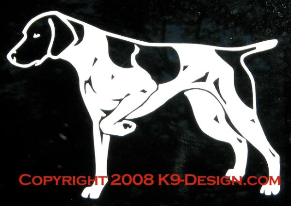 German Shorthaired Pointer Pointing / Hunting Decal