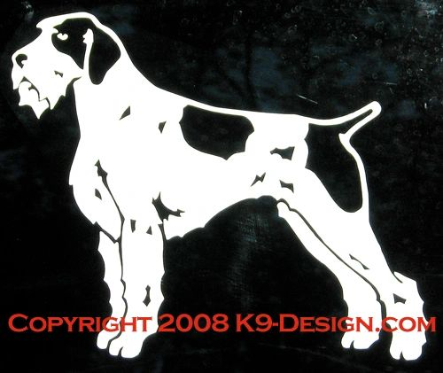 German Wirehaired Pointer Standing Decal