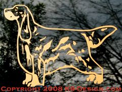 Gordon Setter Standing Decal