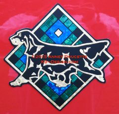 "Gordon Setter Scottish Plaid Diamond 8"" Magnet - Choose Colors"