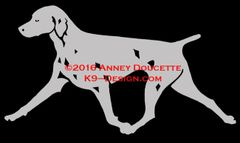 Weimaraner Trotting Decal