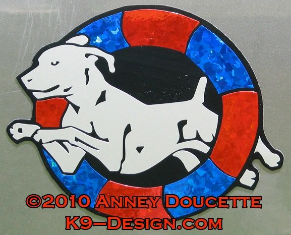 Weimaraner Agility Tire Magnet - Choose Colors
