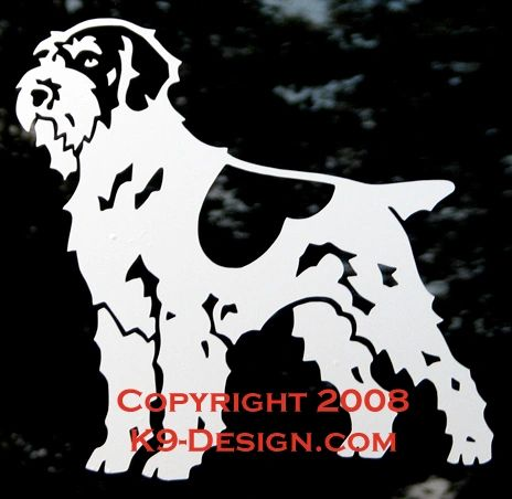 Wirehaired Pointing Griffon Standing Decal