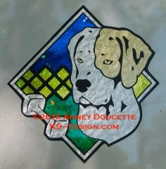 "Pointer Obedience Diamond 8"" Magnet"