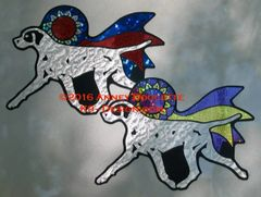 Pointer Trot With Ribbon Magnet - Choose Ribbon Color