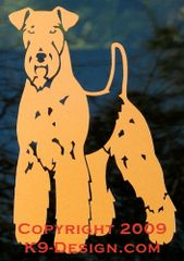 Airedale Terrier Standing Decal