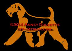 Airedale Terrier Trotting Decal