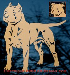 "American Staffordshire Terrier ""Pit Bull"" Decal - Choose Color & Natural or Cropped Ears"
