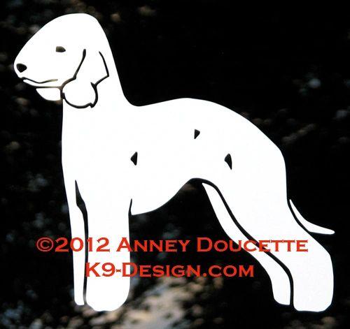 Bedlington Terrier Standing Decal