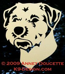 Border Terrier Headstudy Decal
